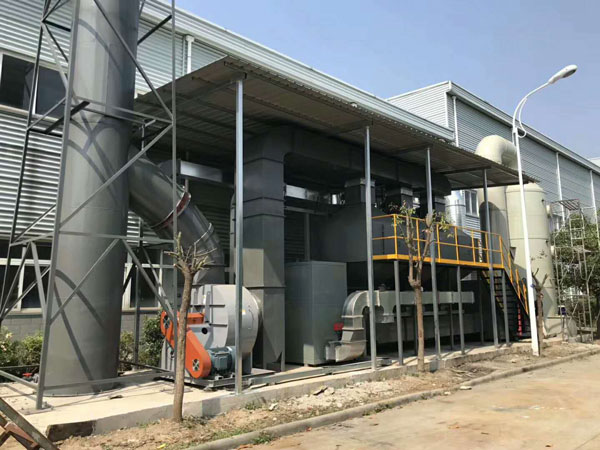 山东某大型钢结构公司喷漆废气处理项目