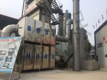 山东某大型沥青拌合站公司废气处理项目